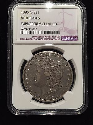 1895 O Morgan Silver Dollar NGC VF Very Fine Cleaned Liberty $1 Key Date