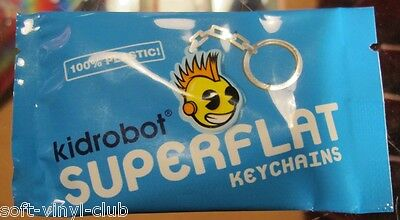 Kidrobot Superflat Keychain Series.  1 x Random Blindbox (foil)