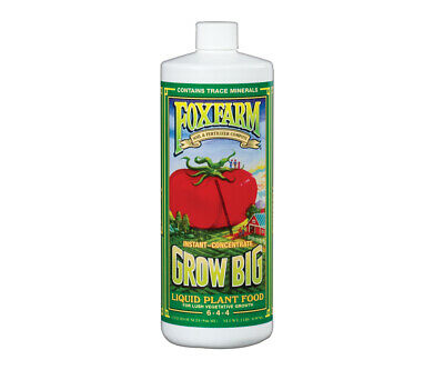 Fox Farm Grow Big Soil 1 Quart 32oz -qt nutrients foxfarm hydroponics