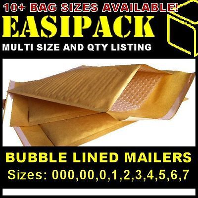 Bubble Lined Envelopes Padded Mailers Mailing Bags *all Sizes* - Gold