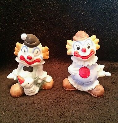 Vintage Set  of 2 1950's Fairway Taiwan R.O.C Clown figurines #F714