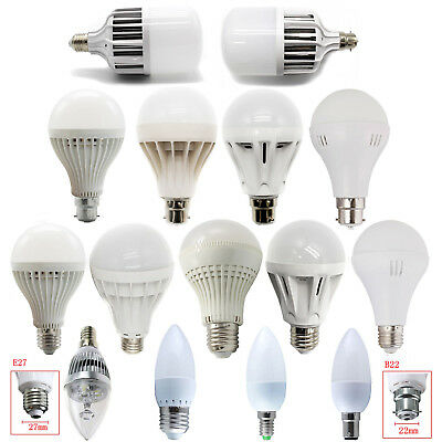E14 E27 B22 B15 3W-36W LED Candle Globe Bulbs Light Bayonet White Lamps 220V
