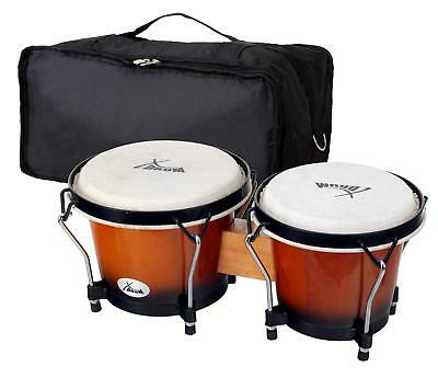 Set Bongos Instrument Percussion Batterie De Main Latin Tambour Poche Sunburst