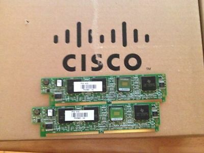 2x Cisco PVDM2-64 (PVDM2-64=) For CCNA CCNP CCIE Voice & Collaboration Lab