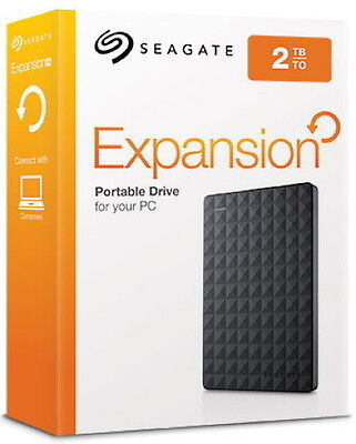 Seagate HDD externe Festplatte Expansion Portable 2,5 Zoll 2TB USB 3.0 schwarz