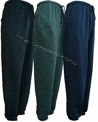 Mens Jogging Bottom Fleece Joggers Casual Trousers With Zip Pockets S - 5XL