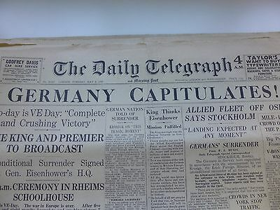 World War Two - 1945 -  Final Days - 20 Issues Of The London Daily Telegraph
