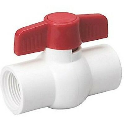 "Ball Valve 3/4"" T/T Threaded Schedule 40 PVC 107-134"