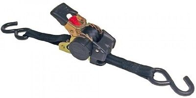 Erickson 34415 Pro Series Black Retractable Ratcheting TieDown Strap (Pack of