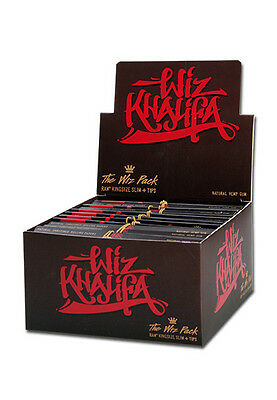 RAW Wiz Khalifa Connoisseur King Size Slim Rolling Papers + Tips Natural Hemp