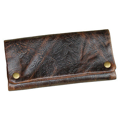 """ORIGINAL KAVATZA Tobacco Pouch """"Ethnic"""" in antique brown leather Rolling Help"""