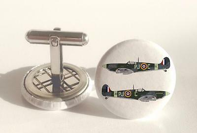 Mens Cuff links  RAF Spitfire type 2