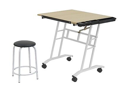 Large Drafting Table Adjustable Drawing Board Artist Sketch Stand Studio Design