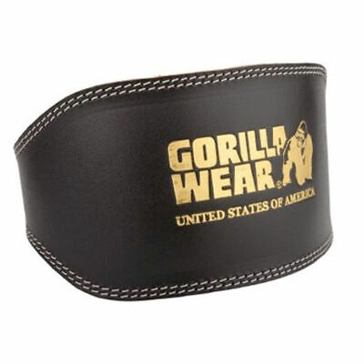 Gorilla Wear Full Leather Padded Belt Black Gewichthebergürtel für Bodybuilding