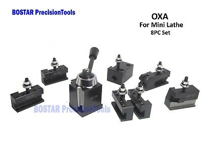 "OXA WedgeType ToolPost  Mini Lathe Up to 8"" WithTwo Extra Holders"
