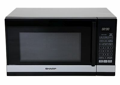 Brand New Sharp - R240Ys- Compact Microwave Oven With Black And Silver