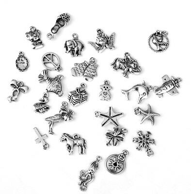 25x Mixed Animals Pendants Charms Connectors Necklace Making Jewellery Craft