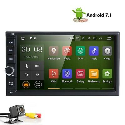 "Android Quad Core 1024*600 HD 7"" 2Din Car GPS DVD Player BT Radio Stereo+CAMERA"
