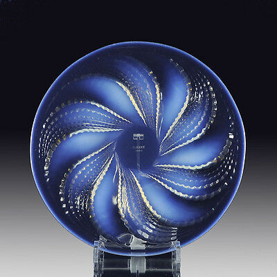 Original Art Deco Glass 'Fleurons' plate by Rene Lalique