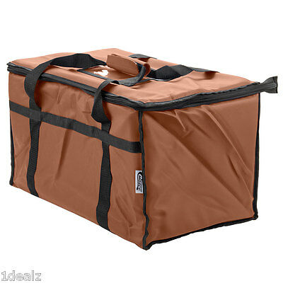 Brown Industrial Nylon Insulated Food Delivery Bag Chafer Pan Carrier $10 Rebate