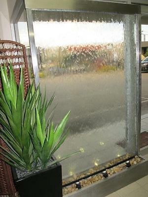 Stainless Steel Frame With Glass Water Feature *indoor Or Outdoor* Best Buy!
