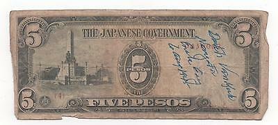 ENOLA GAY  MISSION (HIROSHIMA)~ WWII Japanese CURRENCY signed by DUTCH VAN KIRK