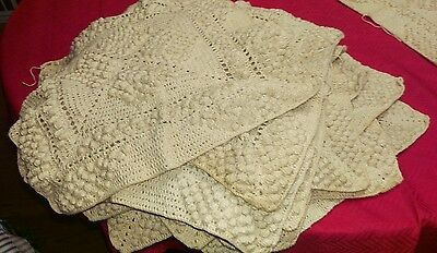 Intricate Crochet Squares (15) Ready to Make into Coverlet, Afghan, your choice!
