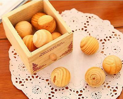 40pcs Cedar Wood Natural Mothballs Drawers Wardrobe Repellent Insects Balls U206