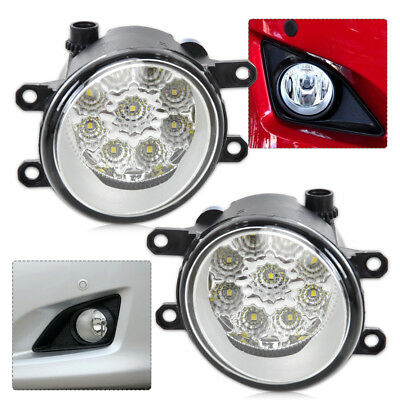 2x 55W 9-LED Day Driving Lights Fog Lamp DRL For Toyota Camry Corolla Lexus