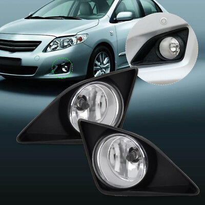 Pair For 07-10 Toyota Corolla Driving Fog Light Lamp & Grille Cover 812200D040