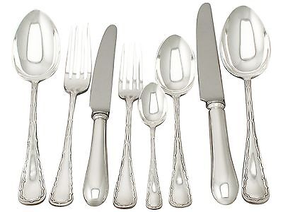 Antique Edwardian Sterling Silver Canteen of Cutlery for Ten Persons