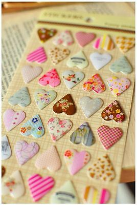 Heart Sticker 3D Diary Marker Card Making / Gift Wrapping / Craft