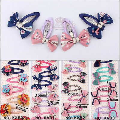 Wholesale 10/20pcs Girl Baby Kids Children Hair Accessories Bows Alligator Clips