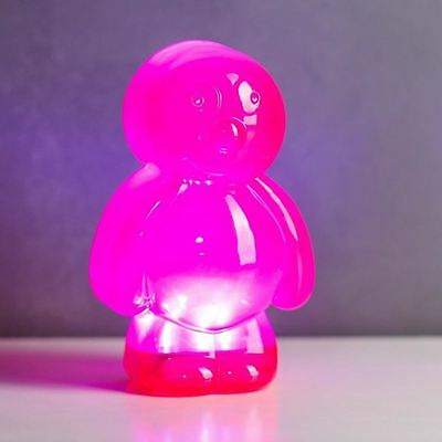 Jelly Baby Light Pink LED Mood Lamp Portable Lighting Silicone Nightlight