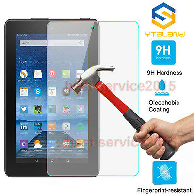9H Tempered Glass Film Screen Protector For Amazon Kindle Fire HD 8 2016 / 2015