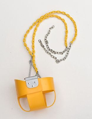 Toddler Bucket Yellow Swing w/ Coated Chain for Swing Sets / Parts & Accessories