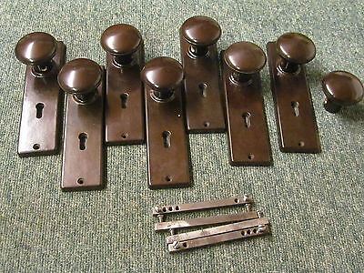 3+ Pairs of ORIGINAL  BAKELITE DOOR KNOBS / HANDLES    -BK133-