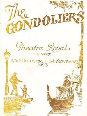 Vintage Playbills Australian Theater Royale The Gondoliers The Women & Ballet
