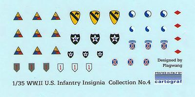 1/35 WWII U.S. INFANTRY INSIGNIA DECAL COLLECTION No.4