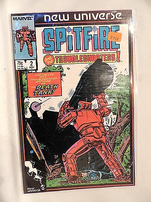 #2 Spitfire and the Troubleshooters 1986 Marvel Comics B772