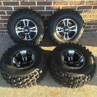 4 NEW HONDA TRX400X 400 MACHINED//BLACK ITP SS112 Rims FOUR WHEEL SET CAPS /& LUGS