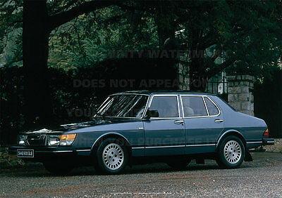 Saab 900 Gle A3 Poster Picture Photo Image Print