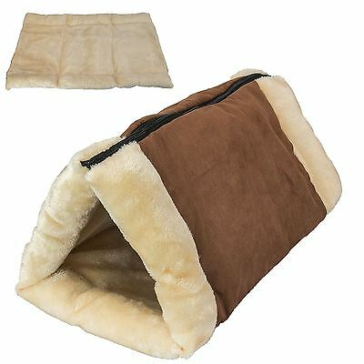 New 2 in 1 Pet Tunnel Bed Mattress Mat Cat Dog Portable Warm Thermo Self Heating