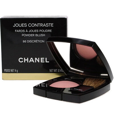 Chanel Jous Contraste Powder Blush Peachy Pink Blusher - Discretion #86 - New