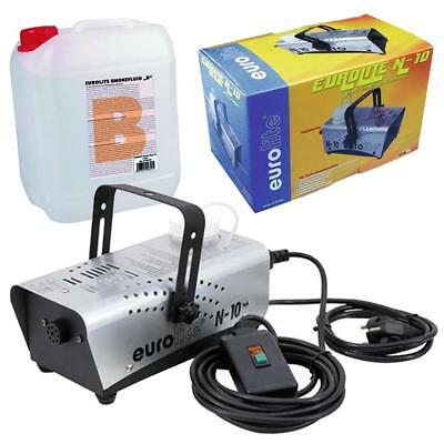 500W Nebelmaschine Party Disco Club DJ Nebler N-10 + Nebelfluid Smoke Fluid B 5l