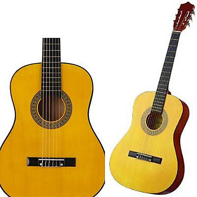 "Graded Acoustic Guitar Cat Ret Classical 1/2 34"" Kids Natural"