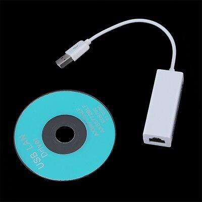 USB 2.0 to RJ45 Ethernet LAN Network Adapter Dongle Connector 10/100 Mbps OK