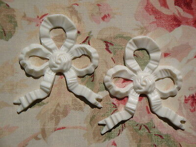 Shabby Flexible French Bows (2)  Furniture Applique Architectural