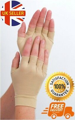 Fingerless Anti Arthritis Gloves Hand Support Pain Relief Compression Joint