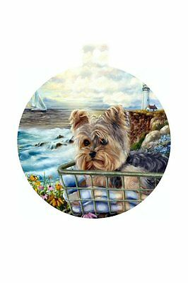 Yorskhire Terrier, Yorkie ORNAMENT CHRISTMAS TREE painting Dog PUPPY ART